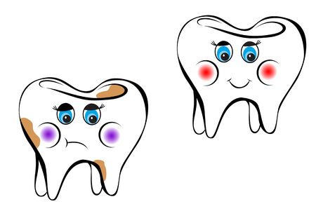 White tooth as a health concept or symbol Vector