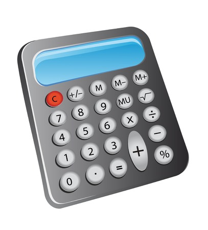 signos matematicos: Calculadora electr�nica como un icono o s�mbolo financiera
