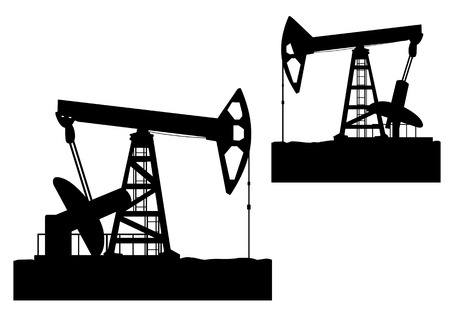 drill: Oilfields as a concept of oil industry Illustration