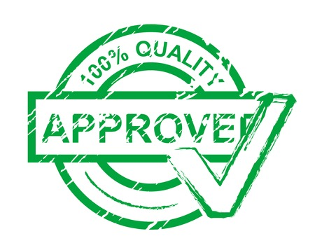 Check approved stamp islated on white for design Vector