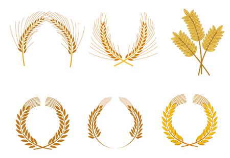 Set di corone di cereali come un concetto di agricoltura