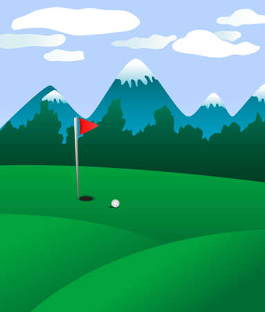 Golf field landscape as a concept of golf game Stock Vector - 6009696