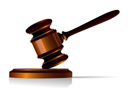 法律またはオークションの概念として小槌シンボル  イラスト・ベクター素材