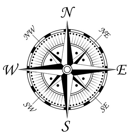 Compass symbol isolated on white for design Stock Vector - 6147735