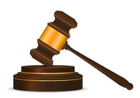 veiling: Symbool van de voorzitters hamer als een concept van wet of veiling