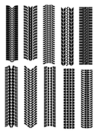 Set of tire shapes isolated on white for design Stock Vector - 6167945