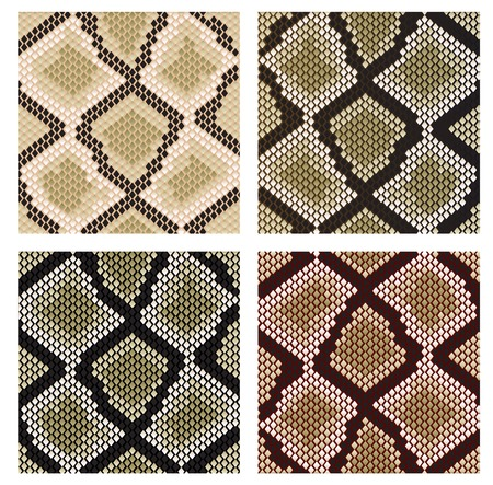 Set of snake skin pattern for design or ornate Stock Vector - 6167951