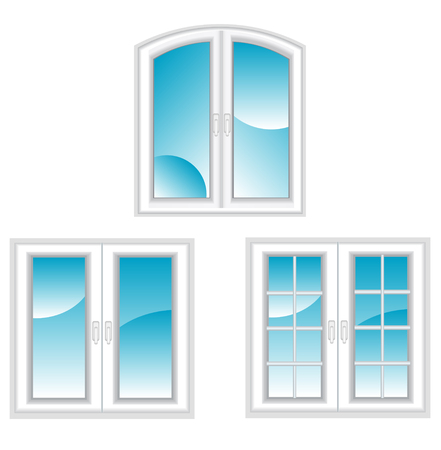 Plastic polymer windows isolated on white for design Stock Vector - 6188938