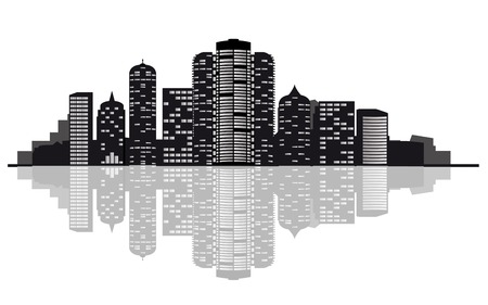 property development: Modern cityscape for design as a business concept