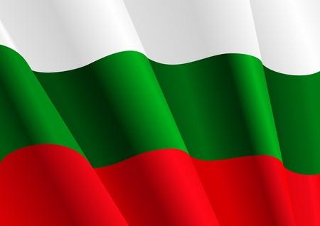 Indicateur de la Bulgarie pour le design comme un arrière-plan ou la texture