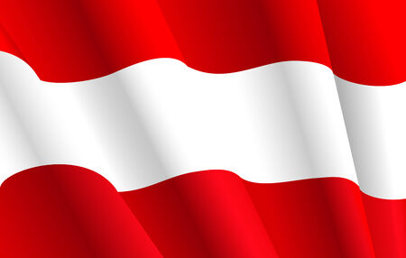 austria flag: Flag of Austria for design as a background or texture Vettoriali