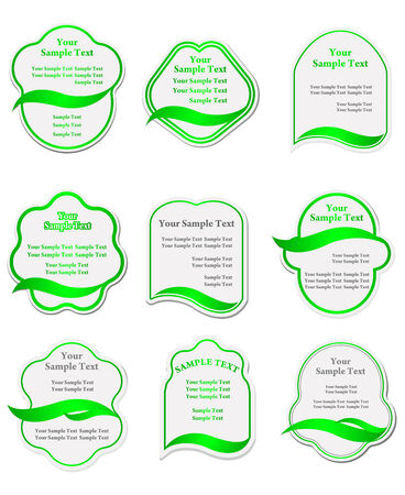 Set of green labels for design food and beverages Stock Vector - 6219587