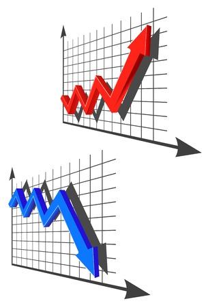 par: Color graph for design and business concept