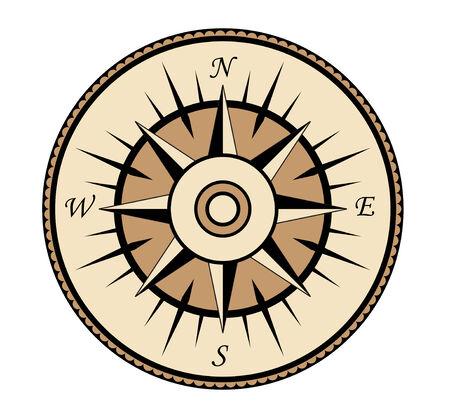 longitude: Compass symbol isolated on white for design