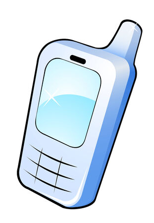 Glossy mobile phone icon for web design Stock Vector - 6265583
