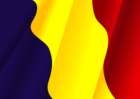 rumanian: Flag of for Rumania design as a background or texture Illustration