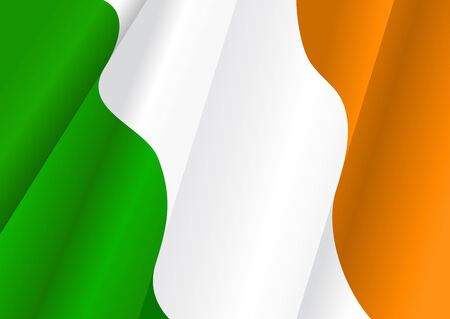 Flag of Ireland for design as a background or texture Vector