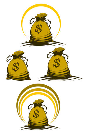 Money bag symbols variations for design and decorate Stock Vector - 6310577