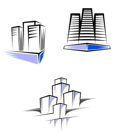 logotipo de construccion: S�mbolos para el dise�o de bienes ra�ces y decorar Vectores