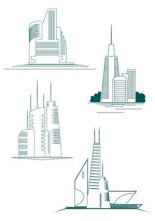 architecture logo: Real estate symbols for design and decorate Illustration