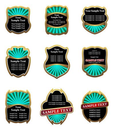 Set of vintage labels for design food and beverages Stock Vector - 6310589