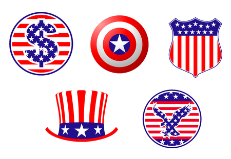 American patriotic symbols set for design and decorate Stock Vector - 6310581