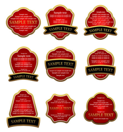 Set of labels for design food and beverages Stock Vector - 6310588