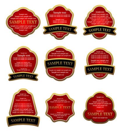 Set of labels for design food and beverages Illustration