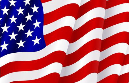 drapeaux am�ricain: Drapeau des �tats-Unis pour le design comme un arri�re-plan ou la texture Illustration