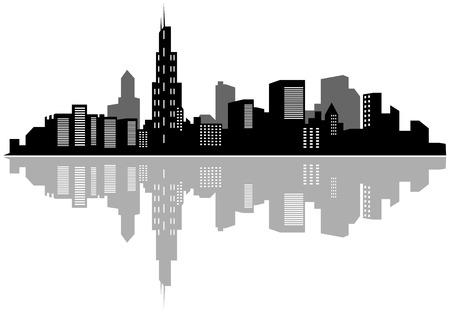 De moderne stad voor ontwerp als een bedrijfs concept