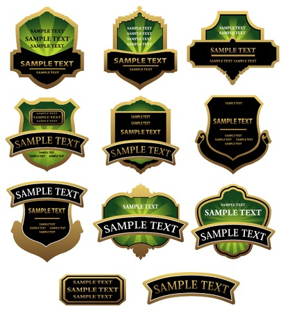Set of labels for design food and beverages Stock Vector - 6352321