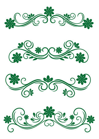 Antique vintage floral frames isolated on white for design Stock Vector - 6352336