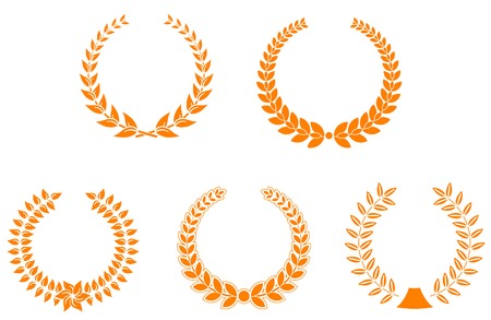 Set of laurel wreaths for design and decorate Vector