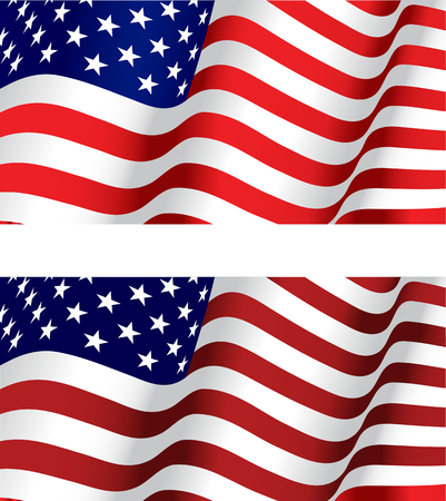 Flag of USA for design as a background or texture Stock Vector - 6386761