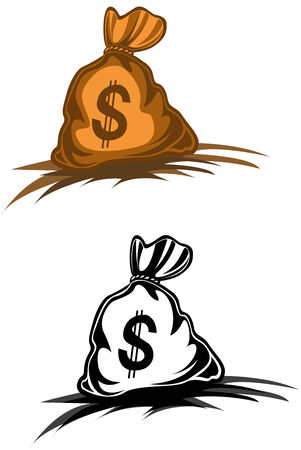 Money bag with dollar symbol for design Stock Vector - 6385168