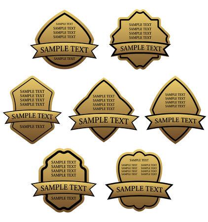 Set of golden labels for design food and beverages Stock Vector - 6386765