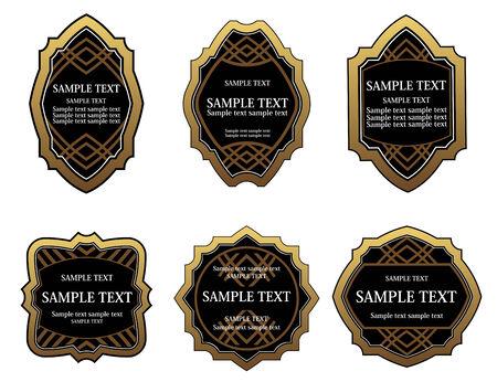 Set of golden labels for design food and beverages Stock Vector - 6386767