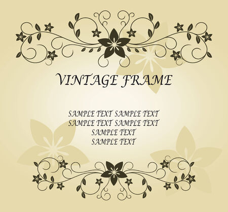 Vintage frame in victorian style for ornate and design Stock Vector - 6386766