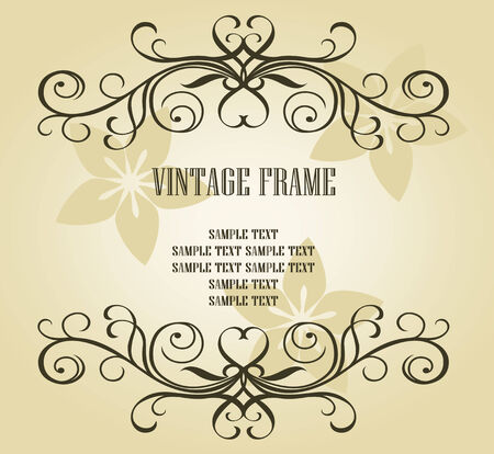 Vintage frame in victorian style for ornate and design Stock Vector - 6442328