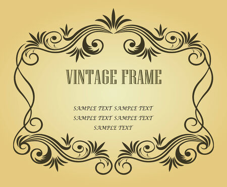 gothic revival: Vintage frame in victorian style for ornate and design