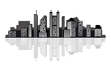 Modern cityscape for design as a business concept Stock Vector - 6442333