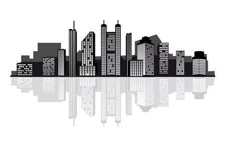 london cityscape: Modern cityscape for design as a business concept