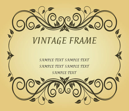Vintage frame in victorian style for ornate and design Stock Vector - 6442330