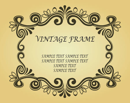Vintage frame in victorian style for ornate and design Stock Vector - 6442340
