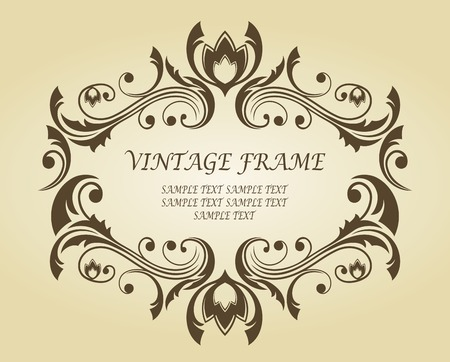 Vintage frame in victorian style for ornate and design Stock Vector - 6497365