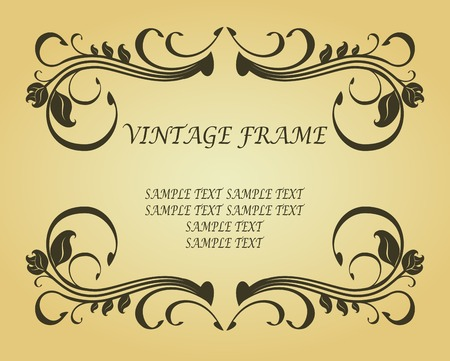 Vintage frame in victorian style for ornate and design  Vector