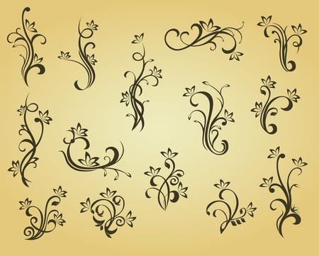 vignette: Jeu de vintage d�corations de style victorienne pour orn� et conception  Illustration
