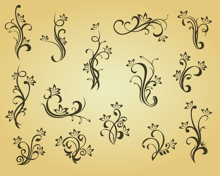 Set of vintage decorations in victorian style for ornate and design Stock Vector - 6497352