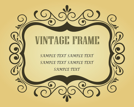Vintage frame in victorian style for ornate and design  Stock Vector - 6497351