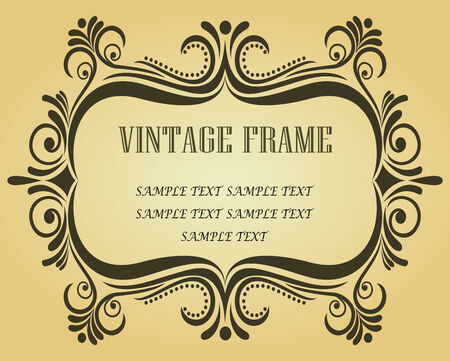 Vintage frame in victorian style for ornate and design Stock Vector - 6497362